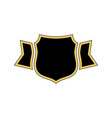 shield black icon gold outline golden vector image