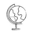 sketch draw world map cartoon vector image vector image