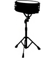 snare drum silhouette vector image vector image