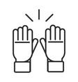 soccer game gloves goalkeeper equipment vector image