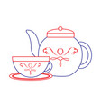 tea kettle icon image vector image