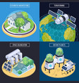 terraforming isometric design concept vector image vector image
