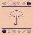 umbrella line icon vector image