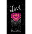 Valentine party invitation Holiday card vector image