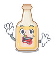 waving apple cider isolated with mascot vector image vector image