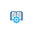 wheel book logo icon design vector image vector image