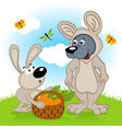 wolf dressed as rabbit vector image vector image