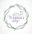 women s day typographical design element vector image vector image