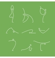 yoga pilates big set of symbols vector image vector image