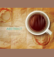 background with a cup coffee vector image vector image