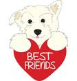 Best Friends Pup vector image vector image