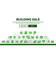 buildings for sale linear icons set vector image vector image
