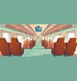 bullet train cabin express railway vector image
