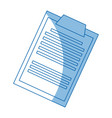 clipboard document paper medical image vector image vector image