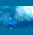 deep blue shiny abstract bokeh background vector image vector image