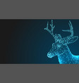 deer head 3d animal abstract wirframe polygon vector image