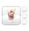 Dessert food icon with chocolate ice cream with vector image vector image