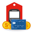 electronic commerce vector image