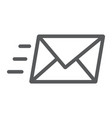 email line icon business and address message vector image vector image