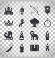 fairytale icons on transparent background vector image