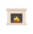 fireplace with classic ornaments and columns icon vector image vector image
