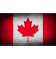 Flag of Canada with old texture vector image