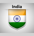 flag on india on badge vector image vector image