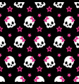 funny pattern with cute skeleton vector image