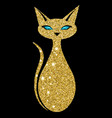 golden cat with sapphire eyes vector image vector image