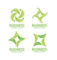 green leaf ecology nature element logo set vector image