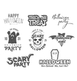 Halloween 2016 party vintage labels tee designs vector image
