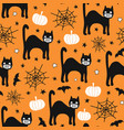 halloween 2020 coronavirus pattern black cat vector image