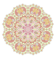 hand draw floral circle ornament ornamental round vector image