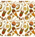 Hand-drawn seamless african music pattern vector image vector image