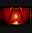 hollywood luxury template concept red curtain vector image
