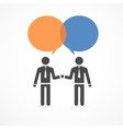 icon handshake and talk people vector image vector image