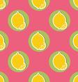 Lemon pattern Seamless texture with ripe lemons vector image vector image
