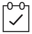 line calendar ok icon vector image
