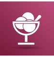 Logo with three balls ice cream food vector image vector image
