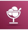 Logo with three balls ice cream food vector image