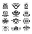 logotypes and symbols photo studios vector image