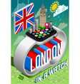 London in a Watch vector image