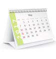 May 2017 desk calendar vector image vector image