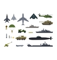 Military Resources Army Icons Set War Ammunition