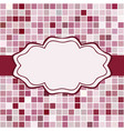 mosaic frame place for text invitation vector image vector image