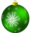 new year s green ball vector image vector image