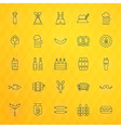Oktoberfest Beer Thin Line Icons Set vector image vector image