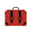 old vintage luggage bag suitcase travel vector image