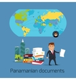 Panamanian Documents Scandal Concept Flat vector image vector image
