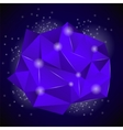 PinkBlue Polygonal Stone vector image vector image